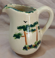 Pottery Green Tree Jug