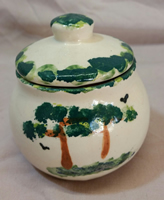 Pottery Green Tree storage bowl