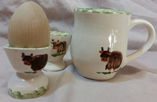Highland cow pottery