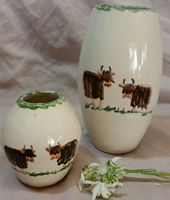 Highland cow pottery - Vases