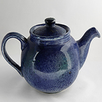 Blue Teapot pottery