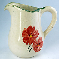 Poppy pottery - jug